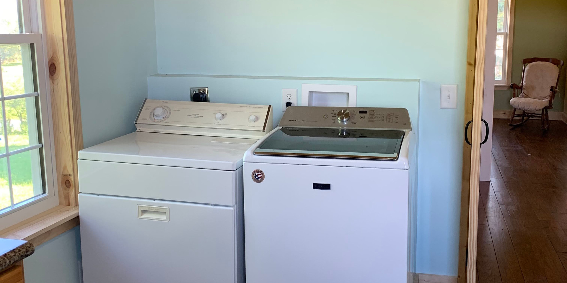 Laundry room on second level