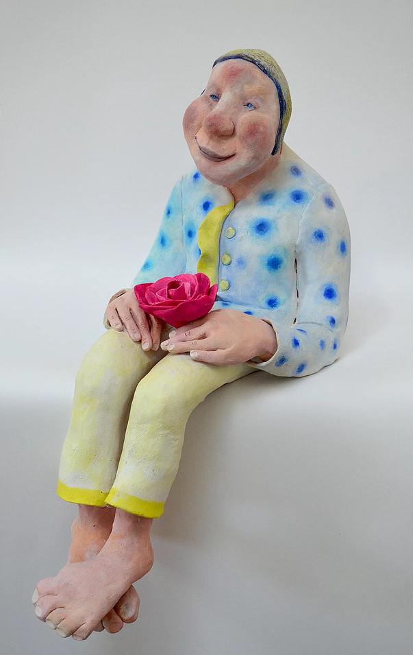 Le vieil homme et les fleurs
