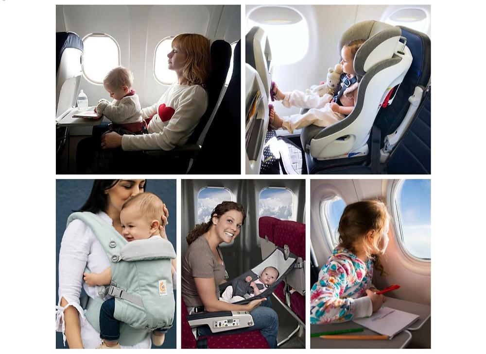 copilul in avion, bebelus in avion, scaun copil in avion, siguranta in avion, calatoriile cu avionul, copii, bebelusi