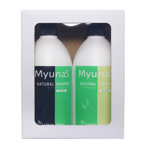 Reina Company Munas Natural Shampoo & Treatment Set GA (Green Apple)
