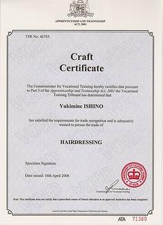 Australia Beauty License.JPG