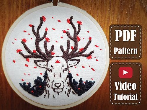 The Manjusaka Deer   PDF Pattern   Video tutorial