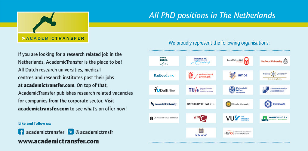 News | International PhD recruitment by AcademicTransfer