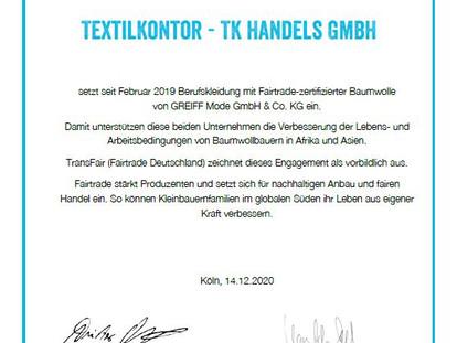 Transfair zeichnet uns als Partner von Greiff aus