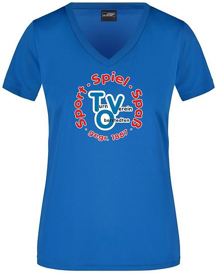 Klassik Sport V-Shirt Damen
