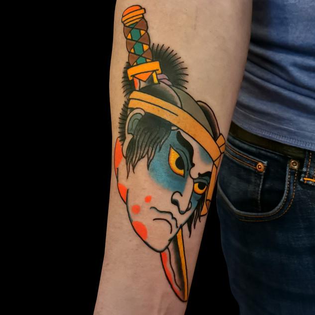 Namakubi Tattoo on arm