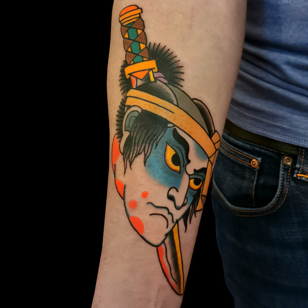 Namakubi Tattoo on arm
