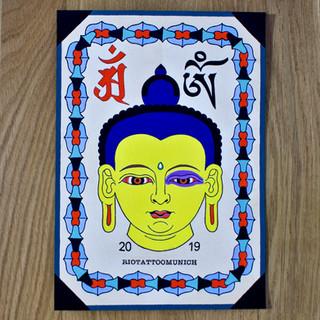 'Blue eyed Buddha'
