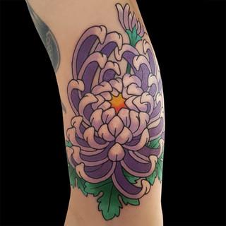 Chrysanthemum tattoo