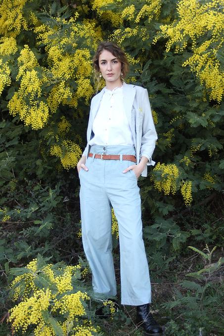 silh pantalsilh SUSON pantalon bleu past