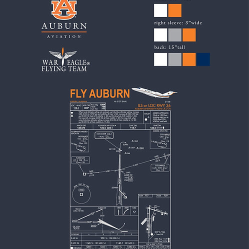 Auburn Aviation Approach Plate T-Shirt