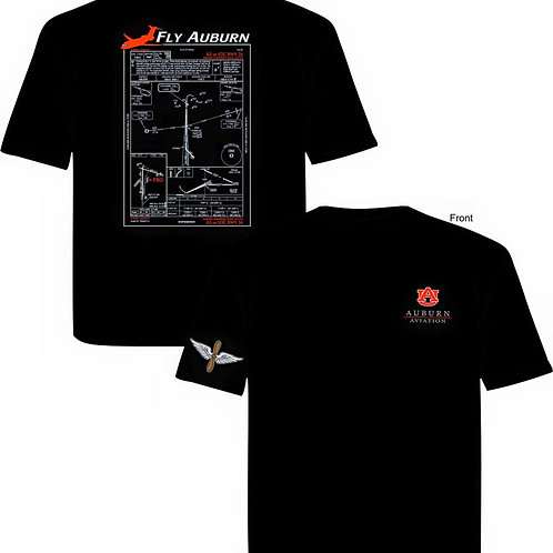 Auburn Aviation Approach Plate T-Shirt