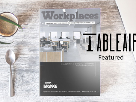 TableAir featured at leading workplace furniture magazine in US