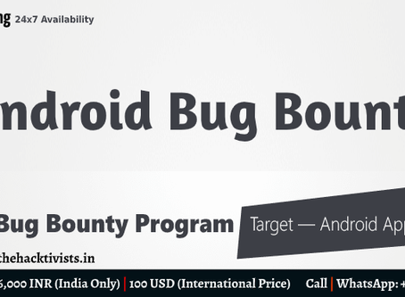 Advanced Android Bug Bounty Hunting Training