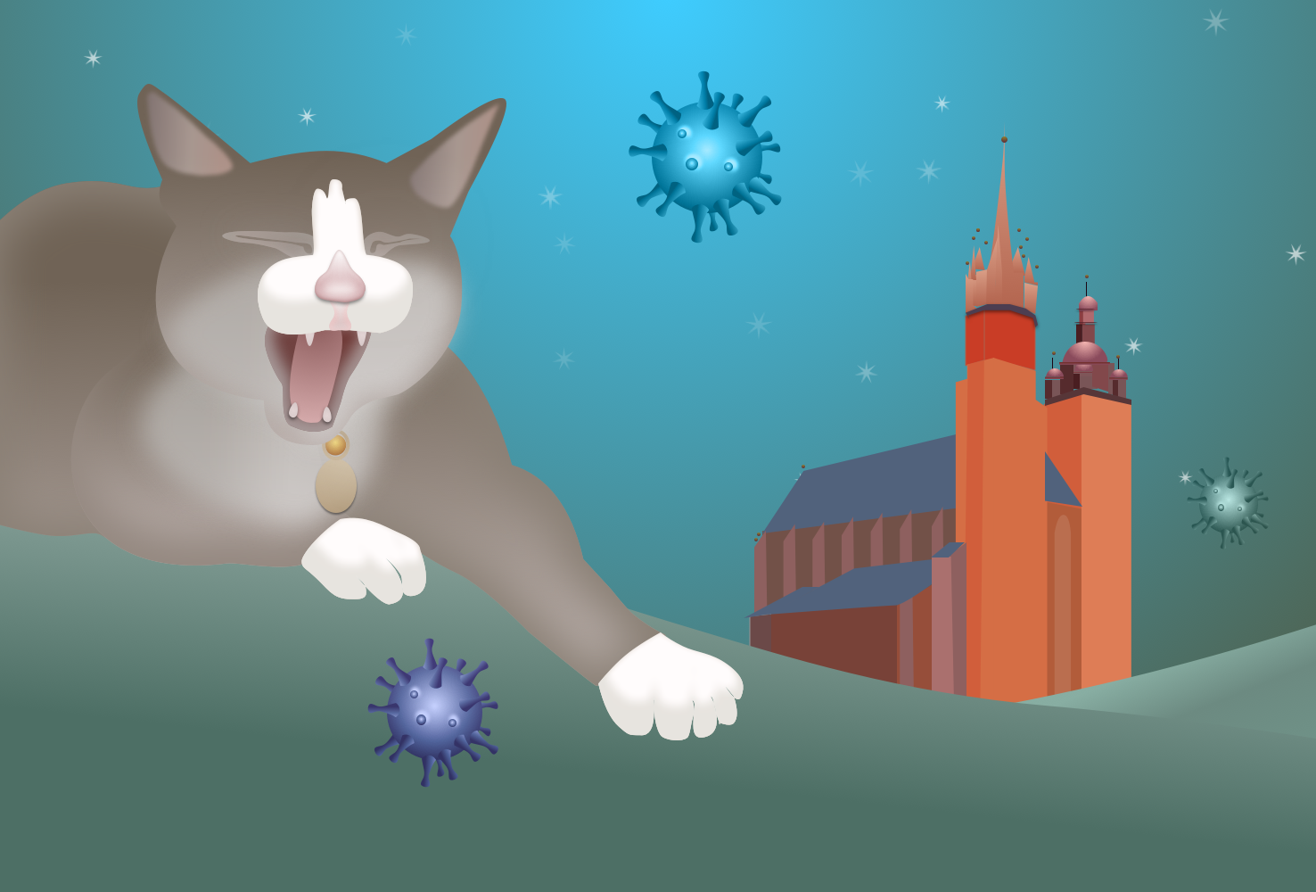 Polish cats 'Off-Duty' during pandemic