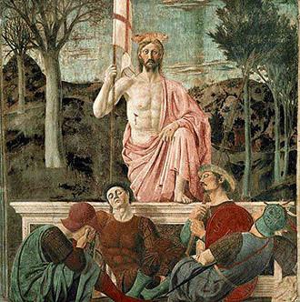 Resurrection circa 1460, Piero della Francesca, Fresco, Museo Civico, Sansepolcro