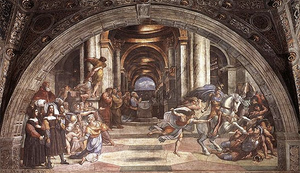 The Expulsion of Heliodorus from the Temple, Raphael, (1511-14), Fresco, Vatican City