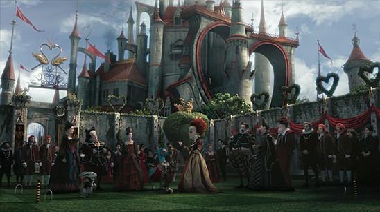 Unione colour treatment in Tim Burton's Alice in Wonderland (2010)