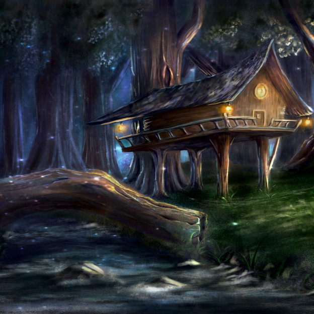 Woods Background Painting