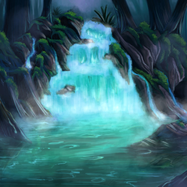 Jungle Background Painting
