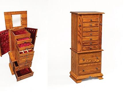 Jewelry Armoires Oak Cabin Furniture Mattress