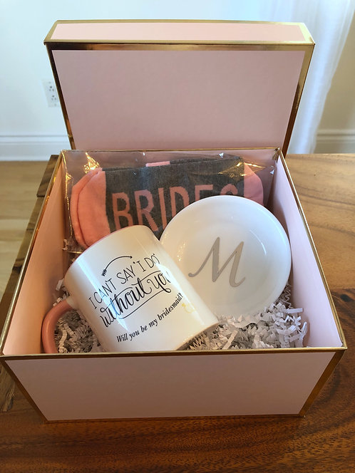 Bridal Party Proposal Pink