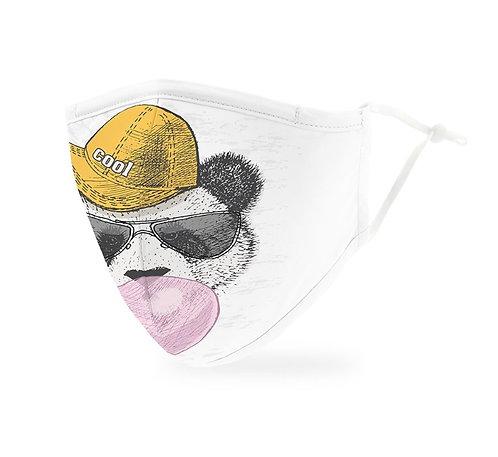 Hipster Panda Print Mask Adult