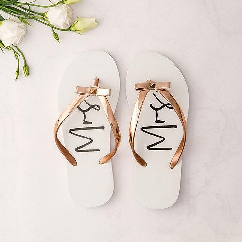 Mrs White flip flops