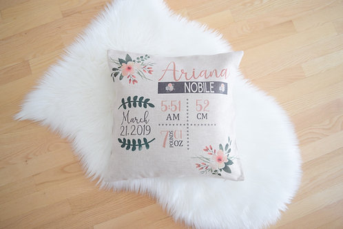 Baby Stat Pillow