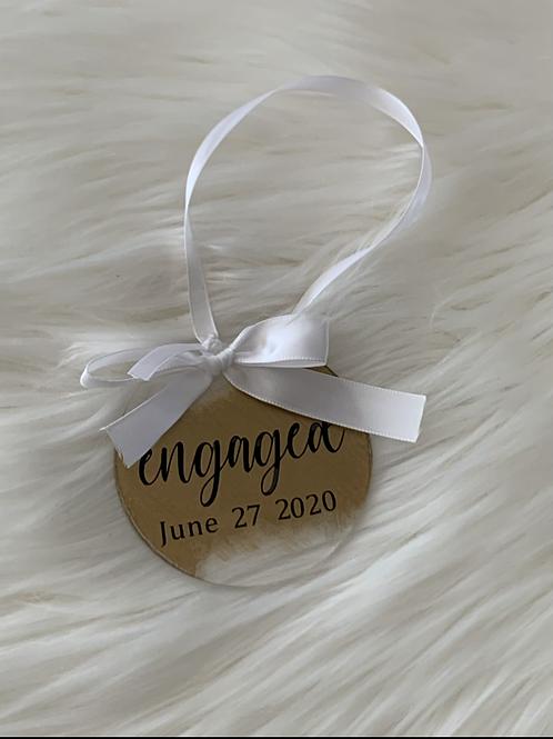 Engaged Acrylic Ornament