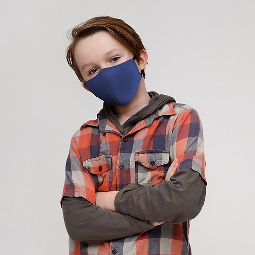 Royal Blue Solid Mask Child