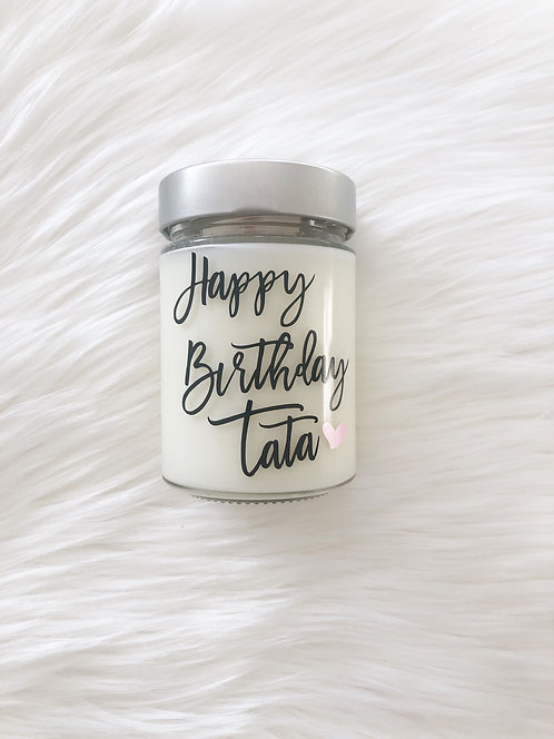 Custom Text Candle