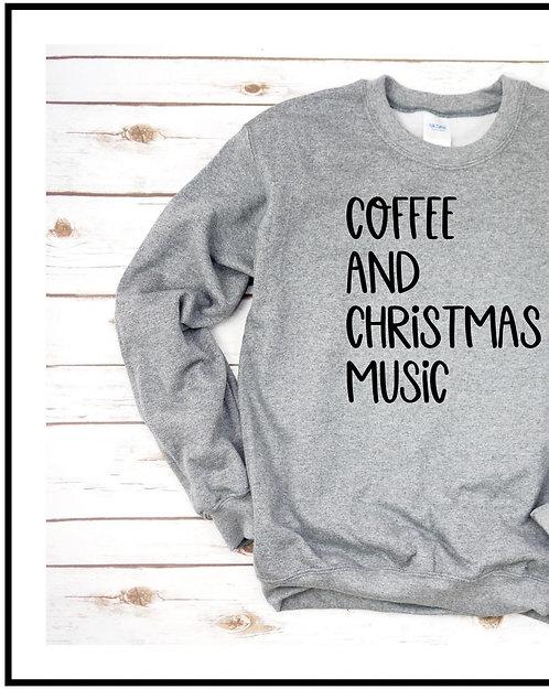 Coffee & Christmas Music Crewneck