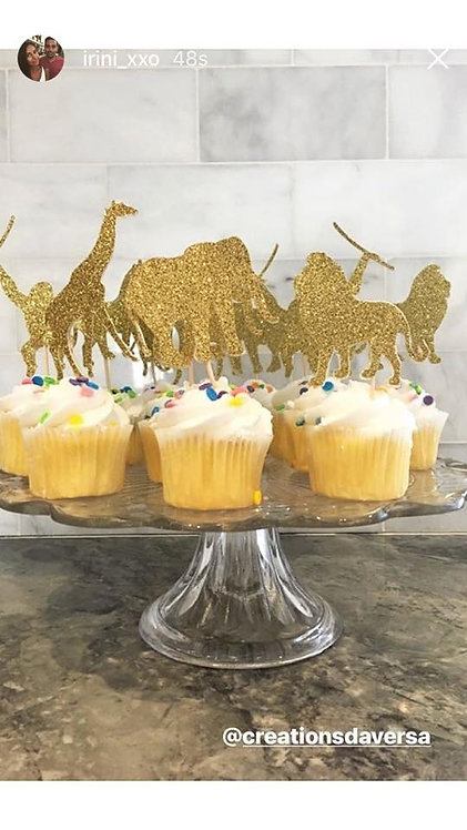 Animals Cupcake Toppers