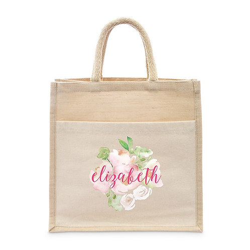Floral Name Tote