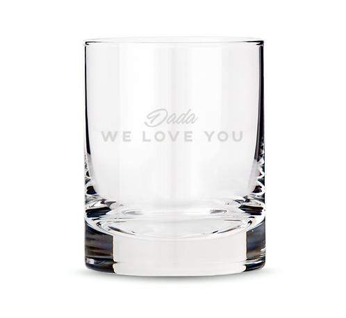 Custom Text Scotch Glass