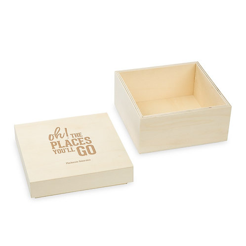 Oh the Places you'll go, Wooden Keepsake Gift Box