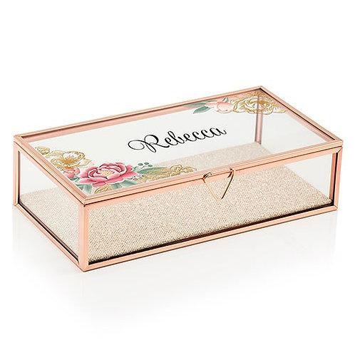 boîte à bijoux florale