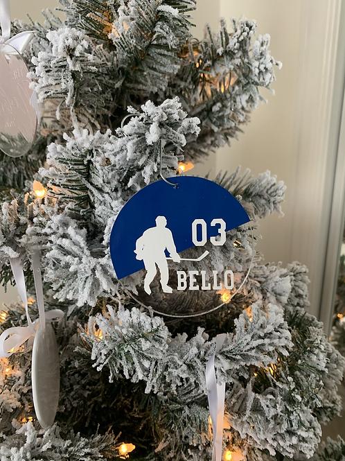 Hockey Acrylic Ornament