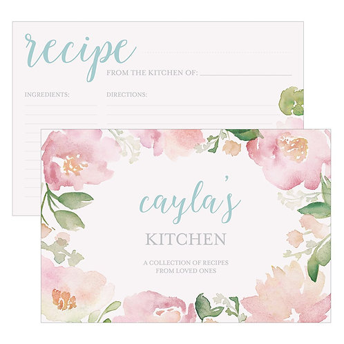 Garden Party Recipe Card