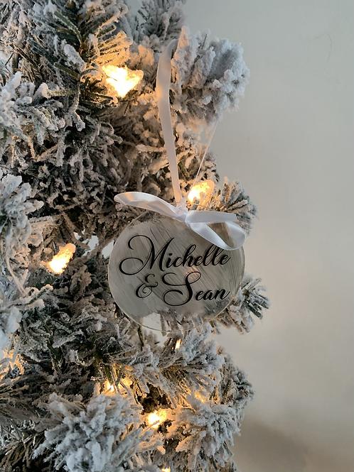 Custom Text  Acrylic Ornament
