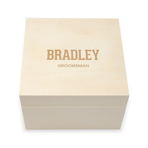 Personalized Wooden Keepsake Gift Box