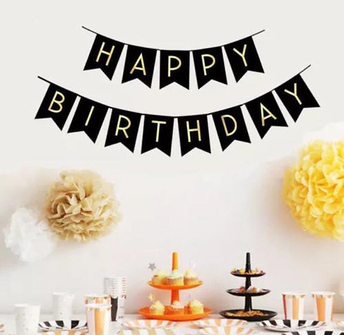 Gold Letter Happy Birthday Sign