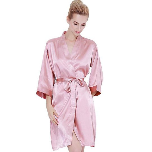 Dusky Rose Robe Front Text