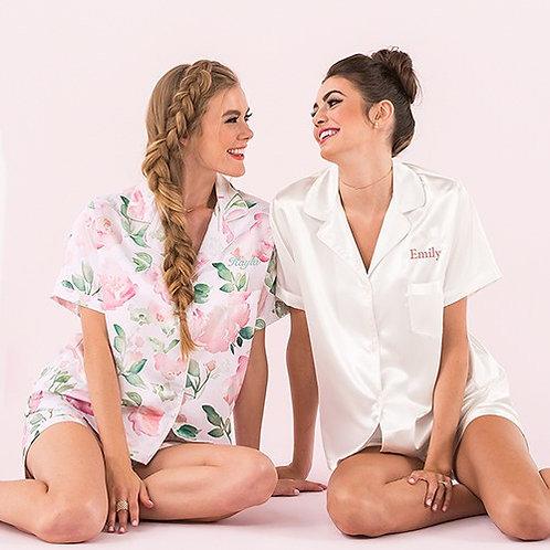 Women's Personalized Satin Pyjama Set