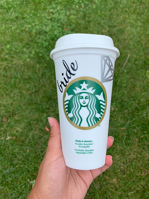 Bride Starbuck Coffee cup