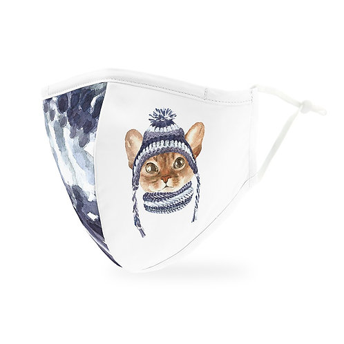 Winter Cat Mask Adult