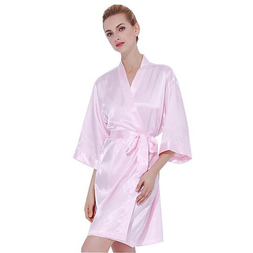 Light Pink Robe Front Text