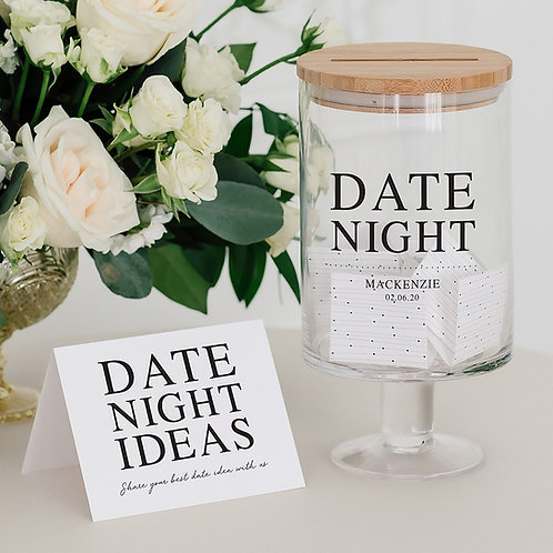 Date Night Glass Jar