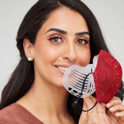 Breathe Easy Reusable Plastic Face Mask Bracket - Set Of 2